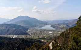 Looking out over Lago di Caldonazzo, halfway down the Alpine road.
