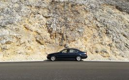 E39 and rock wall.