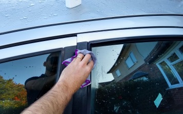 Do the exterior seals too, and don't worry about overspray. You can wash the car later.